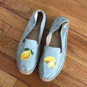 Soludos lemon espadrille flats sz 9 🍋